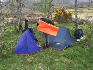 Wild camping with midges